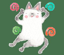 The siamese cat run hot and cold. sticker #4702537