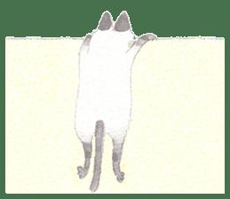 The siamese cat run hot and cold. sticker #4702538