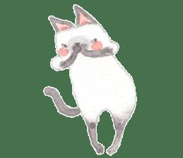 The siamese cat run hot and cold. sticker #4702539