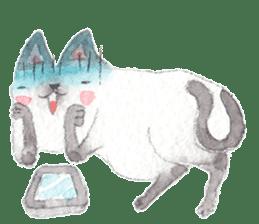 The siamese cat run hot and cold. sticker #4702540
