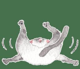 The siamese cat run hot and cold. sticker #4702541