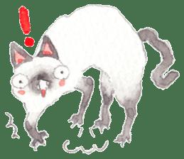 The siamese cat run hot and cold. sticker #4702542