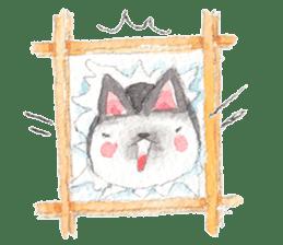 The siamese cat run hot and cold. sticker #4702543