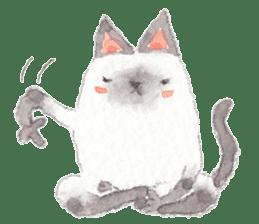 The siamese cat run hot and cold. sticker #4702545