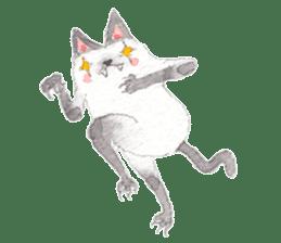 The siamese cat run hot and cold. sticker #4702547