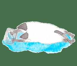 The siamese cat run hot and cold. sticker #4702549