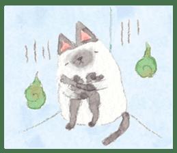 The siamese cat run hot and cold. sticker #4702550