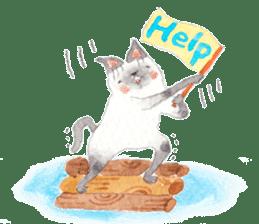 The siamese cat run hot and cold. sticker #4702551