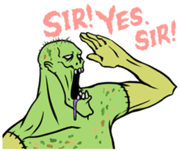 Comical zombie eng.ver sticker #4709875