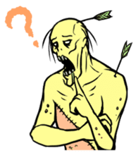 Comical zombie eng.ver sticker #4709882