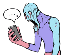 Comical zombie eng.ver sticker #4709884