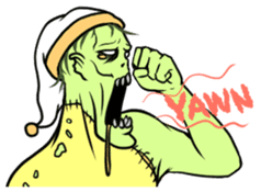 Comical zombie eng.ver sticker #4709901
