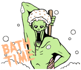Comical zombie eng.ver sticker #4709902