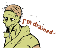 Comical zombie eng.ver sticker #4709909