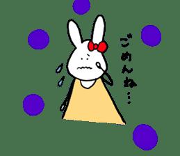 Mii of a rabbit sticker #4715284