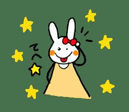 Mii of a rabbit sticker #4715296