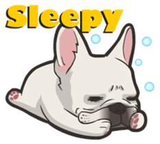 Hi! French Bulldog sticker #4730585