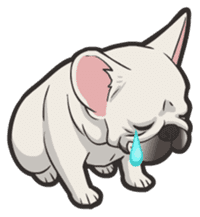 Hi! French Bulldog sticker #4730586