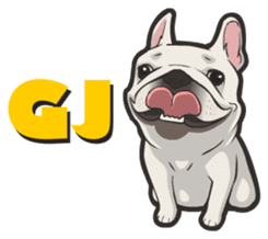 Hi! French Bulldog sticker #4730588