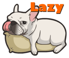 Hi! French Bulldog sticker #4730589