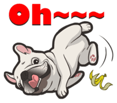 Hi! French Bulldog sticker #4730590