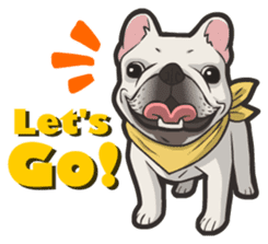 Hi! French Bulldog sticker #4730592
