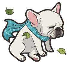 Hi! French Bulldog sticker #4730593