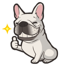 Hi! French Bulldog sticker #4730597