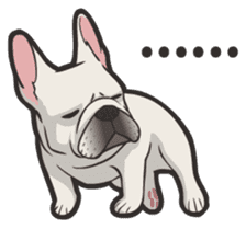 Hi! French Bulldog sticker #4730598