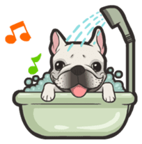 Hi! French Bulldog sticker #4730601