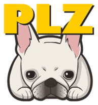 Hi! French Bulldog sticker #4730602