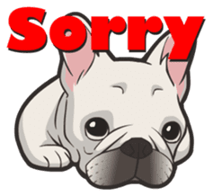 Hi! French Bulldog sticker #4730603