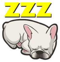 Hi! French Bulldog sticker #4730604