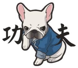 Hi! French Bulldog sticker #4730606