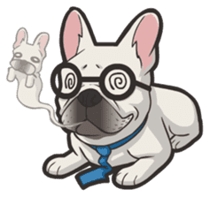Hi! French Bulldog sticker #4730612