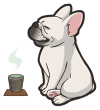 Hi! French Bulldog sticker #4730615