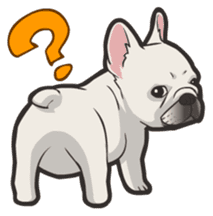 Hi! French Bulldog sticker #4730618