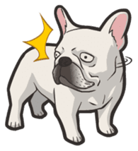 Hi! French Bulldog sticker #4730619
