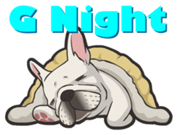 Hi! French Bulldog sticker #4730623