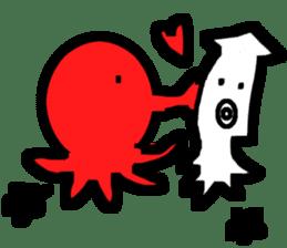 Mr.Octopus and Mr.Squid sticker #4747883