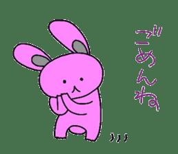 Good friend of  rabbit and kappa sticker #4748158