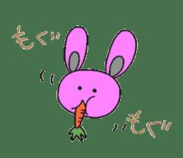Good friend of  rabbit and kappa sticker #4748167