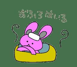 Good friend of  rabbit and kappa sticker #4748169
