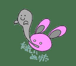 Good friend of  rabbit and kappa sticker #4748170