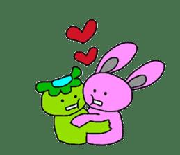 Good friend of  rabbit and kappa sticker #4748171
