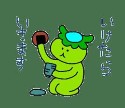 Good friend of  rabbit and kappa sticker #4748172