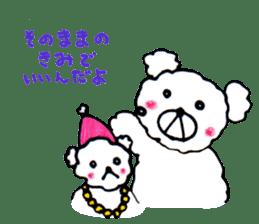 Cloud bear sticker #4748662