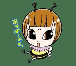 Honey bee sticker sticker #4748896