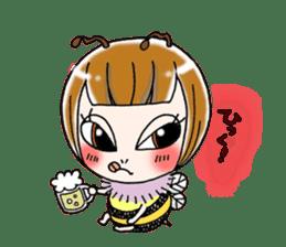 Honey bee sticker sticker #4748898