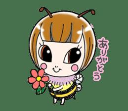 Honey bee sticker sticker #4748903